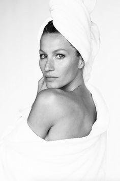 "Gisele Bundchen No. 19 in Mario Testino's ""Towel Series"""