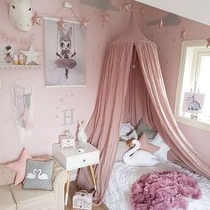Canopy over bed