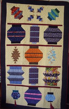 Japanese Lantern Quilt pattern. To make out of the old kimonos ... : japanese lantern quilt pattern - Adamdwight.com