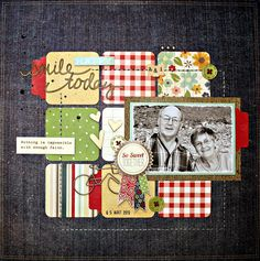 way to use squares on a layout - ink first. Art journal inspiration page Album Scrapbook, Scrapbook Layout Sketches, Birthday Scrapbook, Scrapbook Paper, Simple Scrapbooking Layouts, Picture Layouts, Project Life Cards, Art Journal Inspiration, Layout Inspiration