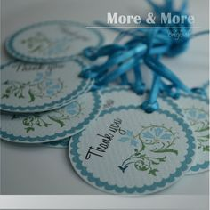 Personalized 1.75inch Circle Tags  Set of by MoreandMoreOriginals
