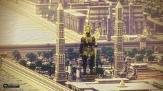 Statue from Tertiary Dreams In The Nile , Millennium's Prosperity Will Go On——The Ancient Egyptian City Minecraft Project