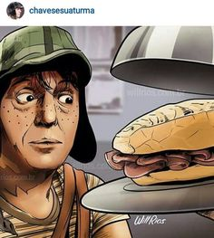 Chaves por Will Rios ( Mexican People, Funny Caricatures, Goth Art, Cartoon Faces, Batman Vs Superman, Mexican Art, Cartoon Shows, People Art, Cartoon Network