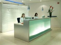 Reception interior design, reception area design