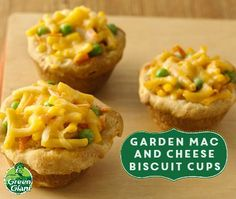 Garden Mac and Cheese Biscuit Cups using Green Giant veggies. What kid ...
