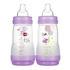 mOmma Baby Feeding Bottle with Flexi Teat Anti-Colic Natural Newborn 300ml