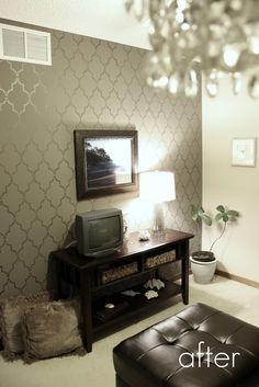 Glidden's Fauna and Lowes' Valspar metal and patina glaze in Pewter