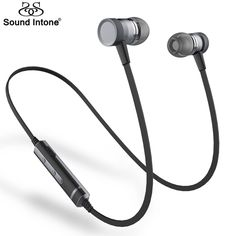 US $17.67  Sound Intone H6 Bluetooth Earphones Running Sport with Mic Wireless Earphones Bass Bluetooth Headsets In Ear For iPhone Xiaomi-in Earphones & Headphones from Consumer Electronics on Aliexpress.com | Alibaba Group