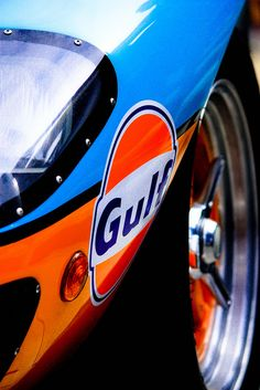 Gulf racing Ford GT40; blue and orange are complimentary colors... for chrome