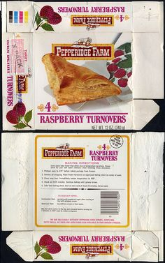 Pepperidge+Farm+Box+packaging | Pepperidge Farm - Raspberry Turnovers box - 1970's | Flickr - Photo ...