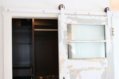 Barn door hardware! Make your own and save a TON of moola.