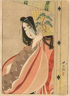 Ladies with Fan Japanese Ukiyo-e Prints