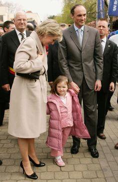 Prince Lorentz of Belgium Princess Astrid and their daughter Princess... Nachrichtenfoto 57404622