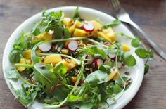 This mango dressing is delightful not only over greens, but also with fish or chicken, grilled or poached. mango dressing as will lightly coat your greens