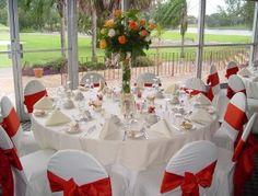 red wedding theme reception ideas