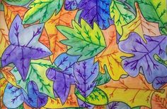Mrs. Tabitha Seaton - Overlapping Leaves.  Try with monochromatic color scheme.