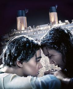 Jack played by Leonardo DiCaprio and Rose played by Kate Winslet from the movie Titanic Titanic Quotes, Titanic Movie, Rms Titanic, I Movie, Titanic Kate Winslet, Kate Winslet And Leonardo, Leo And Kate, Jack Dawson, Image Film