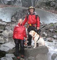 Mountain rescue mission, Big Four Ice Caves