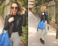 Zara Biker, Topshop Jeans, Hope1967 Bag, Jessica Simpson Shoes, Sunglass Island Sunnies, Zara Top