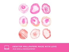 Julie Song's Watercolor Geodes Wallpaper for Design Love Fest #freebie #download