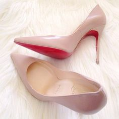 #REDBOTTOM #ChristianLouboutin Christian Louboutin Pigalle 80mm Pumps Nude DYP Show Your Special Taste And High Taste!