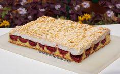 Romanian Desserts, Easy Cake Recipes, Cake Cookies, Just Desserts, Sweet Treats, Deserts, Good Food, Ice Cream, Pudding