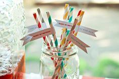 red straws...