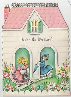 Vintage Unused Embossed Get Well Greeting Card w Envelope | eBay