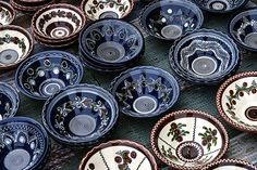 Photo about Romanian traditional pottery in the form of plates, painted with specific reasons Corund area, Transylvania. Image of earthenware, creativity, creation - 29686649 Music Files, Earthenware, Pottery, Stock Photos, Traditional, Creative, Crafts, Painting, Inspiration