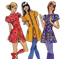1970s Vintage sewing pattern Simplicity by allthepreciousthings