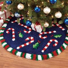 Craftways® Candy Cane Tree Skirt Latch Hook Kit Was: $59.99                     Now: $49.99