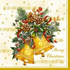 3604 Servilleta decorada Navidad