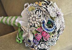 Vintage Rhinestone Brooch Bridal Bouquet