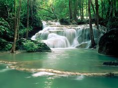 Kao Pun Temple Waterfalls