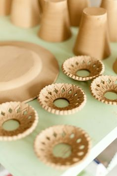 Candle Rings. This potters blog is in Swedish but she has wonderful tips.