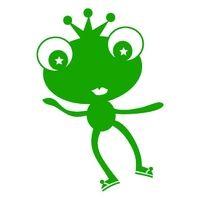 Fröggel, grün, Velours-Motiv zum Aufbügeln - PeppAuf.de