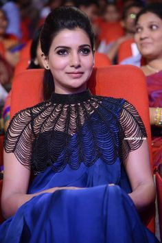 Samantha Ruth Prabhu in Saree At Rabhasa Telugu Movie Songs Launch  #SamanthaRuthPrabhu