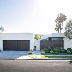 Modern house with stucco and horizontal wood slat exterior