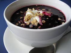 blueberry soup! scandinavian