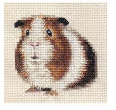 Counted Cross-stitch Guinea Pig Kit Including: Guide, Needle, Threads and Tips. via Etsy.