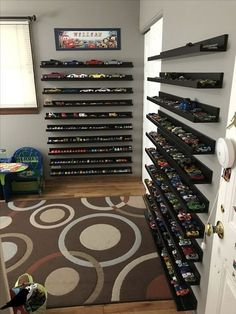 22 Best Ideas For Kids Playroom Organization Hot Wheels Hot Wheels Storage, Toy Car Storage, Hot Wheels Display, Kids Storage, Storage Ideas, Matchbox Car Storage, Toy Storage Shelves, Baby Storage, Shelf Ideas