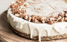 <p>This raw cinnamon roll cake has all of that cinnamon roll flavor, but in a totally different shape and form! </p>