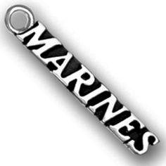 Lead Free Pewter Marines Charm