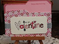 Handmade Valentine Card with Insert on Etsy, $4.75
