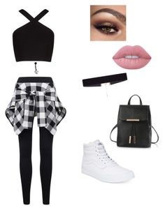 """""""ootd pt. i lost track"""" by xxfashi0nf0reverxx on Polyvore featuring BCBGMAXAZRIA, Bling Jewelry, Vans, Lime Crime and 8 Other Reasons"""
