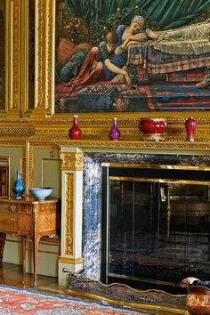 After Fireplace Buscot Park Saloon