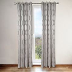 Annabelle Grey Faux Silk Grommet Top 84-inch Curtain Panel Pair - contemporary - Curtains - Overstock.com