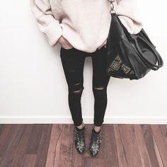 callahan sweater | paige denim |chloéboots | cleobella handbag