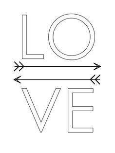 Poster para quadros - Love Preto e Branco