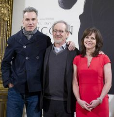 """Daniel Day-Lewis, Steven Spielberg and Sally Field at the """"Lincoln"""" Madrid Photocall at House of America Center on Indiana Jones, Jurassic Park, Cincinnati, Daniel Day, Day Lewis, Steven Spielberg, Celebs, Celebrities, Good People"""